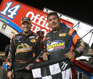 Tony Stewart gets first win.