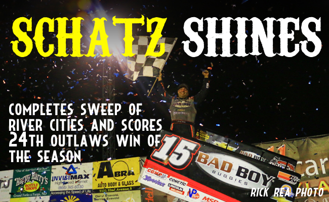 With Late Pass Schatz Sweeps River Cities World Of Outlaws