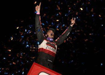 Perris Auto Speedway - Aaron Reutzel in Victory Lane