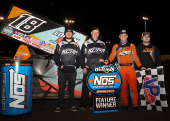 Ian Madsen wins at Thunderbowl Raceway in Tulare on March 9, 2019