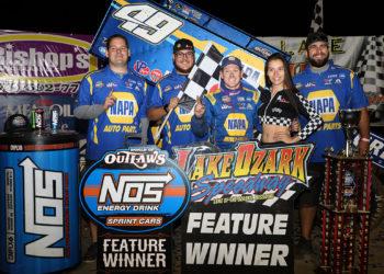 Brad Sweet wins at Lake Ozark Speedway
