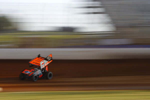 Ian Madsen (18) during the Patriot Nationals at The Dirt Track at Charlotte in Concord, North Carolina.