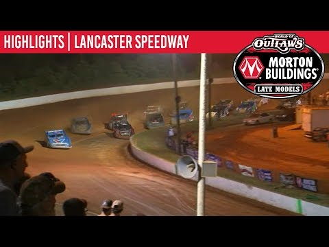 World of Outlaws Morton Buildings Late Models Lancaster Speedway, June 1, 2019 | HIGHLIGHTS