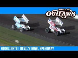 World of Outlaws NOS Energy Drink Sprint Cars Devil's Bowl Speedway April 12, 2019 | HIGHLIGHTS