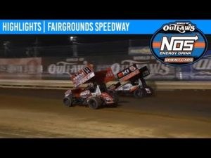 World of Outlaws NOS Energy Drink Sprint Cars Fairgrounds Speedway, June 1, 2019   HIGHLIGHTS