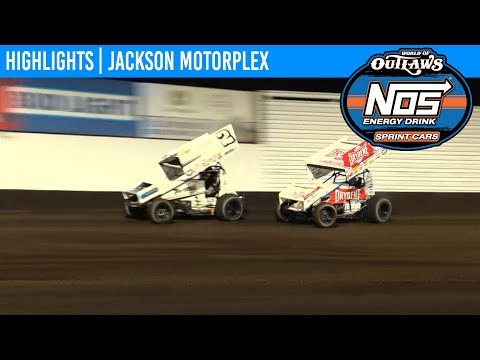 World of Outlaws NOS Energy Drink Sprint Cars Jackson Motorplex, June 28, 2019 | HIGHLIGHTS