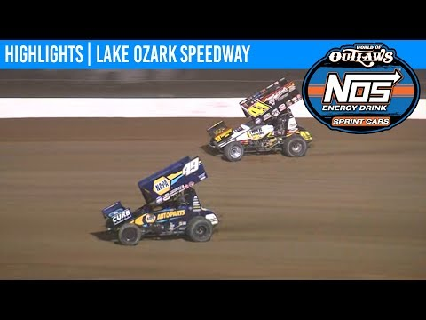 World of Outlaws NOS Energy Drink Sprint Cars Lake Ozark Speedway April 26, 2019 | HIGHLIGHTS