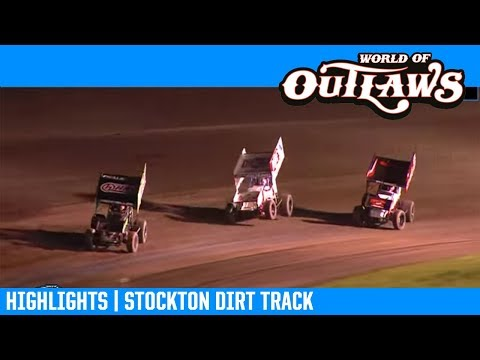 World of Outlaws NOS Energy Drink Sprint Cars Stockton Dirt Track March 16, 2019 | HIGHLIGHTS
