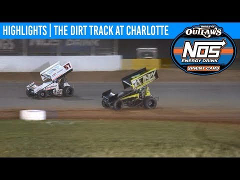 World of Outlaws NOS Energy Drink Sprint Cars The Dirt Track at Charlotte May 24, 2019 | HIGHLIGHTS