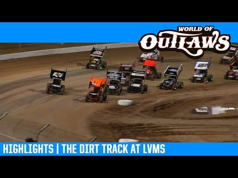 World of Outlaws NOS Energy Drink Sprint Cars the Dirt Track at LVMS February 27, 2019 | HIGHLIGHTS