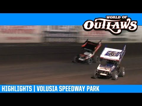 World of Outlaws NOS Energy Drink Sprint Cars Volusia Speedway Park February 8, 2019 | HIGHLIGHTS