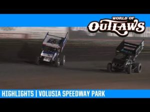 World of Outlaws NOS Energy Drink Sprint Cars Volusia Speedway Park February 9, 2019   HIGHLIGHTS