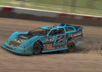 Dylan Houser gave Slick Simsport its first win of the 2019 iRacing World of Outlaws Morton Buildings Late Model World Championship from Eldora Speedway.