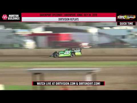 DIRTVISION REPLAYS | Davenport Speedway July 24th, 2019