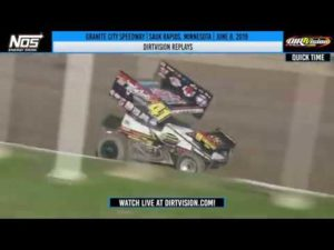 DIRTVISION REPLAYS   World of Outlaws NOS Energy Drink Sprint Cars Granite City June 8, 2019
