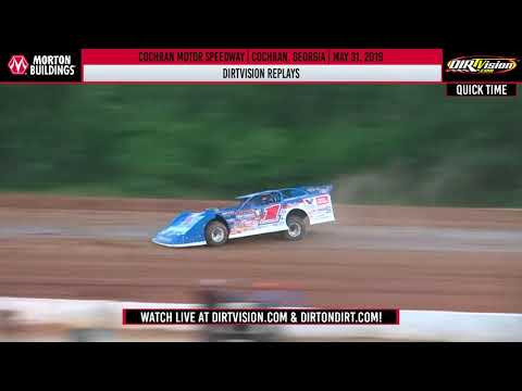 World of Outlaws Morton Buildings Late Models Cochran Motor Speedway May 31, 2019 DIRTVISION REPLAY