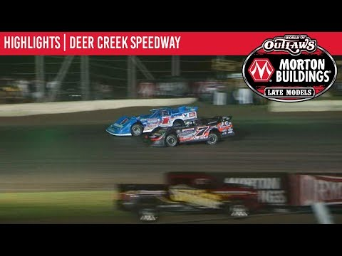 World of Outlaws Morton Buildings Late Models Deer Creek Speedway July 6, 2019 | HIGHLIGHTS