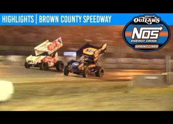 World of Outlaws NOS Energy Drink Sprint Cars Brown County Speedway, July 3, 2019 | HIGHLIGHTS