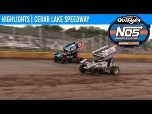 World of Outlaws NOS Energy Drink Sprint Cars Cedar Lake Speedway, July 5th, 2019   HIGHLIGHTS