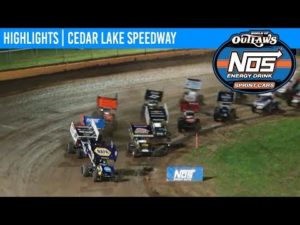 World of Outlaws NOS Energy Drink Sprint Cars Cedar Lake Speedway, July 6th, 2019   HIGHLIGHTS