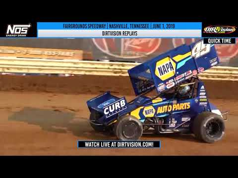 World of Outlaws NOS Energy Drink Sprint Cars Fairgrounds Speedway June 1, 2019 | DIRTVISION Replays