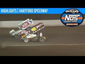 World of Outlaws NOS Energy Drink Sprint Cars Hartford Speedway, July 12th, 2019   HIGHLIGHTS