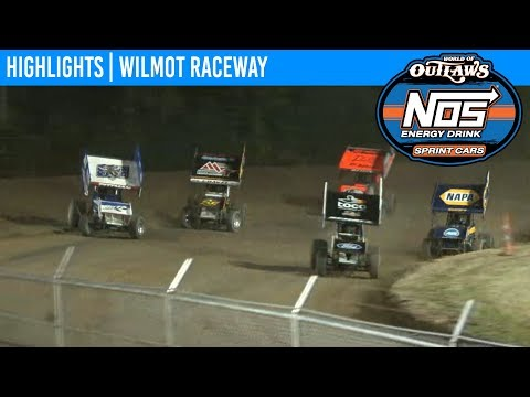 World of Outlaws NOS Energy Drink Sprint Cars Wilmot Raceway, July 13th, 2019 | HIGHLIGHTS