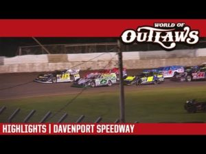 World of Outlaws Craftsman Late Models Davenport Speedway July 24, 2018   HIGHLIGHTS