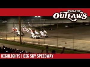 World of Outlaws Craftsman Sprint Cars Big Sky Speedway August 25, 2018   HIGHLIGHTS