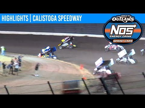 World of Outlaws NOS Energy Drink Sprint Cars Calistoga Speedway, September 14th, 2019 | HIGHLIGHTS