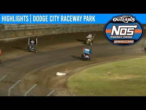 World of Outlaws NOS Energy Drink Sprint Cars Dodge City Raceway, September 21st, 2019 | HIGHLIGHTS