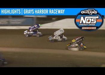 World of Outlaws NOS Energy Drink Sprint Cars Grays Harbor Raceway, September 2nd, 2019 | HIGHLIGHTS