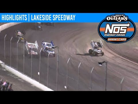 World of Outlaws NOS Energy Drink Sprint Cars Lakeside Speedway, October 18th, 2019 | HIGHLIGHTS