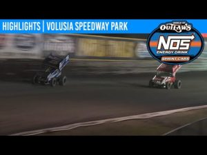 World of Outlaws NOS Energy Drink Sprint Cars Volusia Speedway Park, February 9th, 2020   HIGHLIGHTS