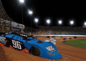 Mike McKinney wins the inaugural World of Outlaws Morton Buildings Late Model iRacing Invitational.