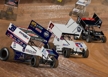 Sprint Cars virtually race at The Dirt Track at Charlotte