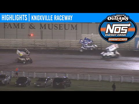 World of Outlaws NOS Energy Drink Sprint Cars Knoxville Raceway, June 13, 2020 | HIGHLIGHTS