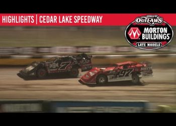 World of Outlaws Morton Buildings Late Models Cedar Lake Speedway, July 2, 2020 | HIGHLIGHTS