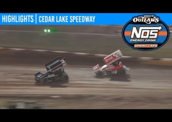 World of Outlaws NOS Energy Drink Sprint Cars Cedar Lake Speedway, July 3, 2020 | HIGHLIGHTS