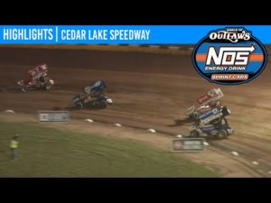 World of Outlaws NOS Energy Drink Sprint Cars Cedar Lake Speedway, July 2, 2020   HIGHLIGHTS