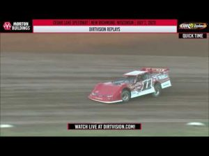 DIRTVISION REPLAYS   Cedar Lake Speedway July 2, 2020