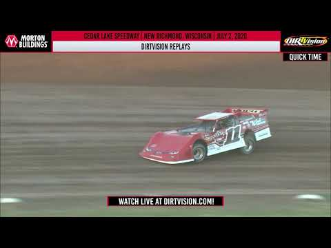 DIRTVISION REPLAYS | Cedar Lake Speedway July 2, 2020