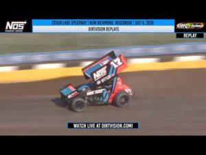 DIRTVISION REPLAYS   Cedar Lake Speedway July 4, 2020