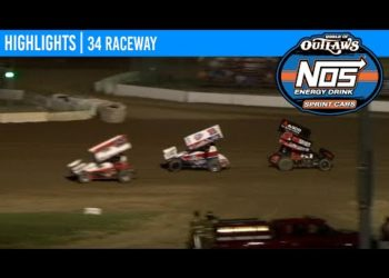 World of Outlaws NOS Energy Drink Sprint Cars 34 Raceway, July 10, 2020 | HIGHLIGHTS