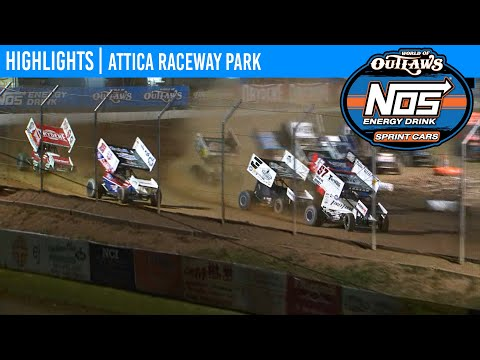 World of Outlaws NOS Energy Drink Sprint Cars Attica Raceway Park, July 14, 2020 | HIGHLIGHTS