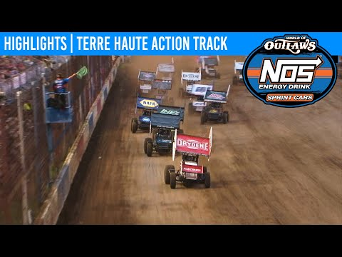 World of Outlaws NOS Energy Drink Sprint Cars Terre Haute Action Track, July 12, 2020 | HIGHLIGHTS