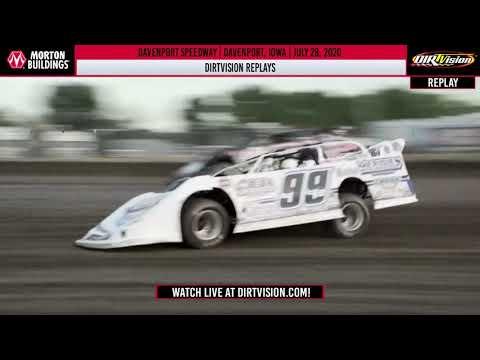 DIRTVISION REPLAYS   Davenport Speedway July 28, 2020