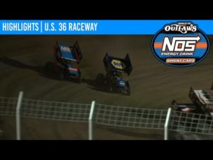 World of Outlaws NOS Energy Drink Sprint Cars U.S. 36 Raceway August 29, 2020   HIGHLIGHTS