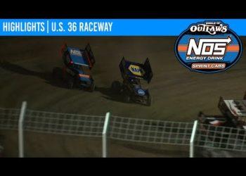 World of Outlaws NOS Energy Drink Sprint Cars U.S. 36 Raceway August 29, 2020 | HIGHLIGHTS