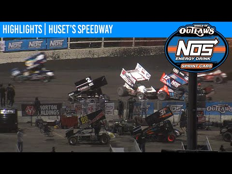 World of Outlaws NOS Energy Drink Sprint Cars Huset's Speedway September 6, 2020 | HIGHLIGHTS